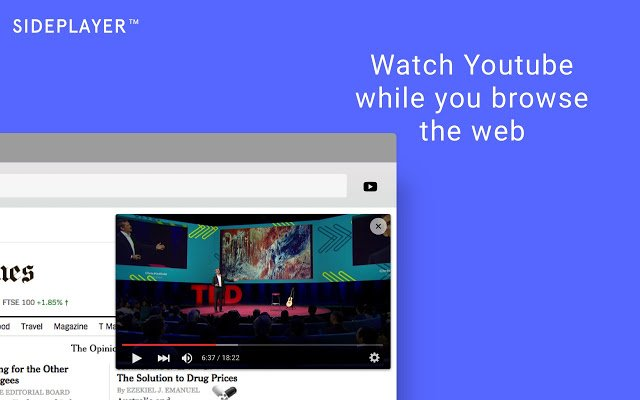 Sideplayer - Расширения для браузеров Chrome и Firefox